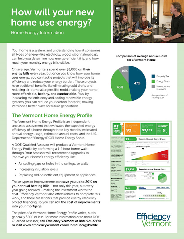 Home Energy Information Pamphlet - Page One