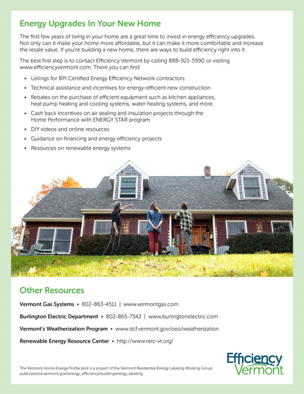 Home Energy Information Pamphlet - Page Two